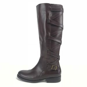 Frye Jordan Tall Strappy Leather Riding Boots